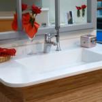 Möbelwaschtisch mit flacher Bauweise